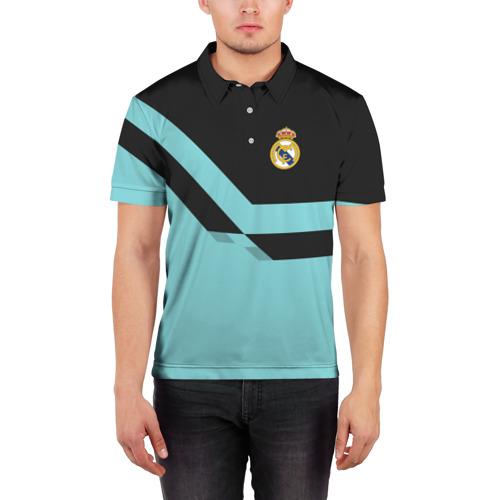Мужская рубашка поло 3D  Фото 03, Real Madrid 2018 #2