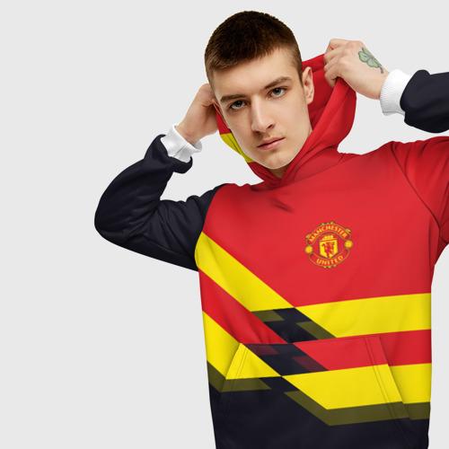 Мужская толстовка 3D  Фото 01, Manchester United 2018