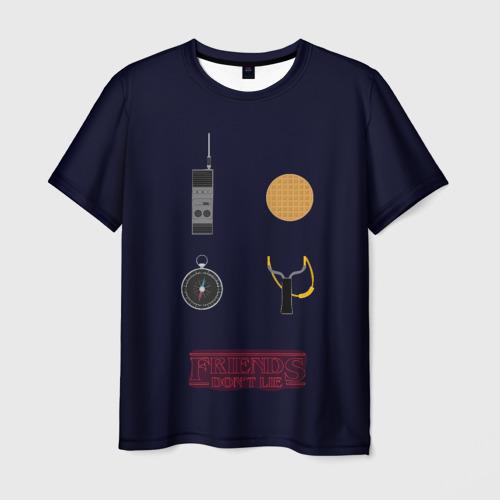 Мужская футболка 3D Друзья не лгут / Stranger Фото 01