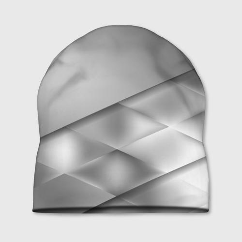 Шапка 3D  Фото 01, Grey rhombuses