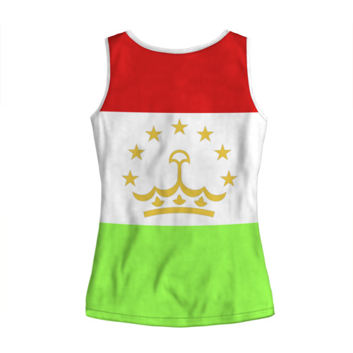 Женская майка 3D  Фото 02, Флаг Таджикистана