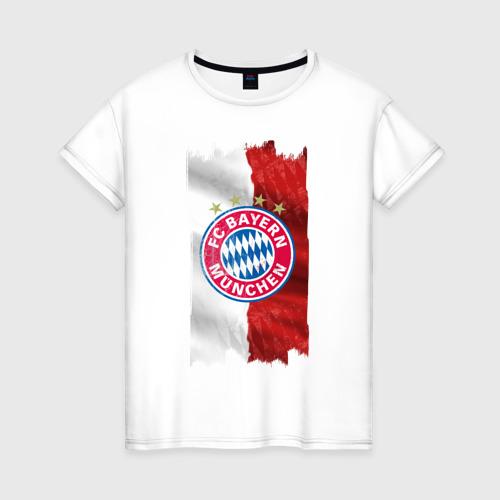 Женская футболка хлопок Bayern Munchen - Vintage style No. 3