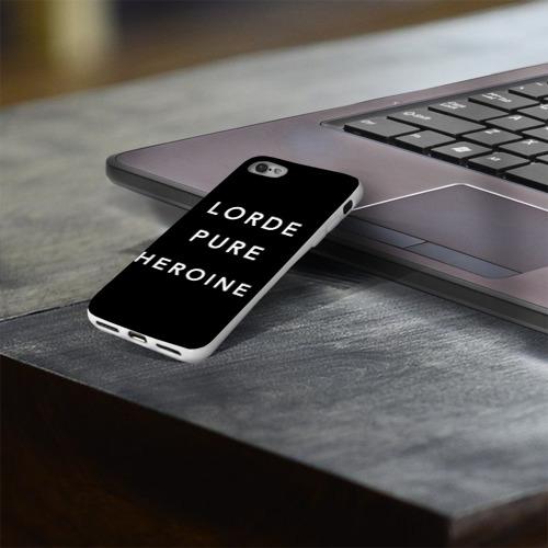 Чехол для Apple iPhone 8 силиконовый глянцевый  Фото 03, Lorde