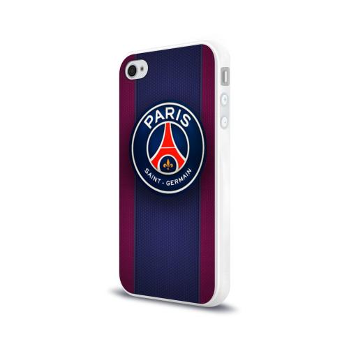 Чехол для Apple iPhone 4/4S силиконовый глянцевый  Фото 03, Paris Saint-Germain