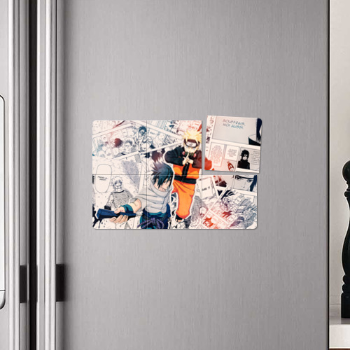 Магнитный плакат 3Х2  Фото 04, Наруто и Саске