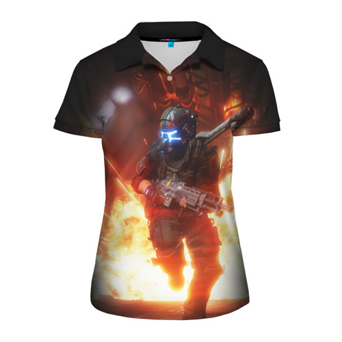 Женская рубашка поло 3D  Фото 01, Titanfall
