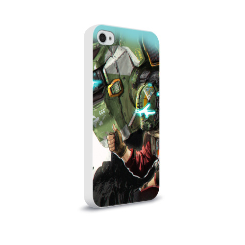 Чехол для Apple iPhone 4/4S soft-touch  Фото 02, Titanfall