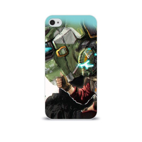 Чехол для Apple iPhone 4/4S soft-touch  Фото 01, Titanfall