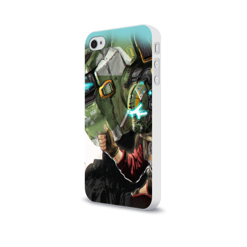 Чехол для Apple iPhone 4/4S soft-touch  Фото 03, Titanfall