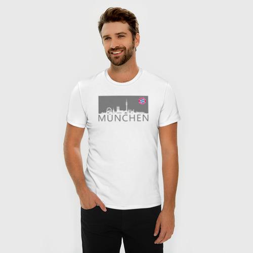 Мужская футболка премиум Bayern Munchen - Munchen City grey (2018) Фото 01