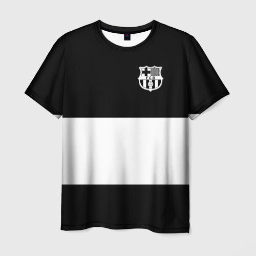 Мужская футболка 3D FC Barcelona Black Collection