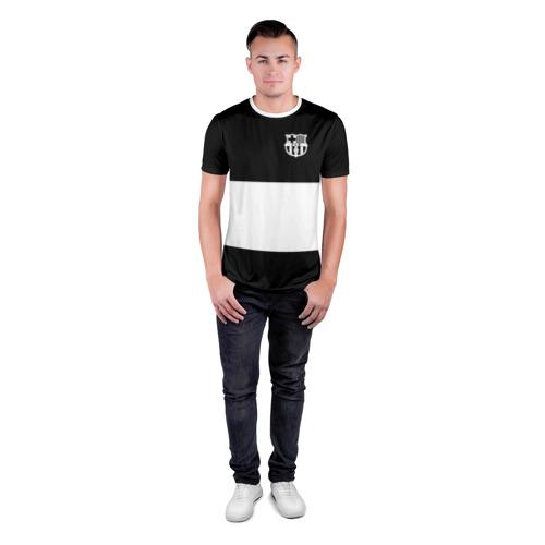 Мужская футболка 3D спортивная  Фото 04, FC Barcelona Black Collection