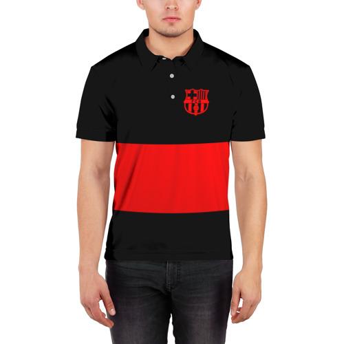 Мужская рубашка поло 3D  Фото 03, FC Barcelona Black Collection