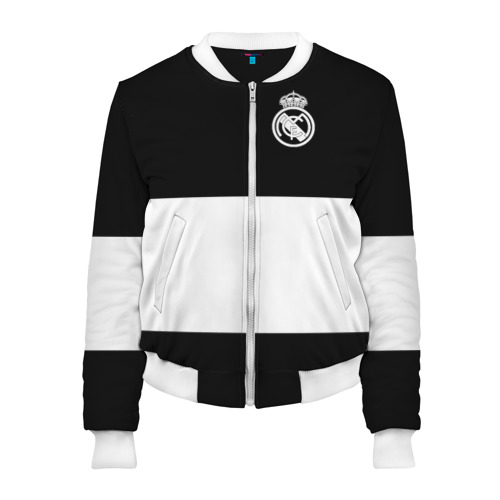 Женский бомбер 3D Real Madrid Black Collection