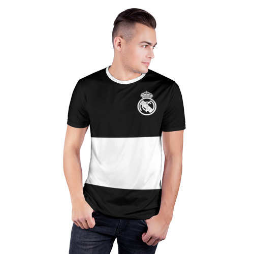 Мужская футболка 3D спортивная  Фото 03, Real Madrid Black Collection