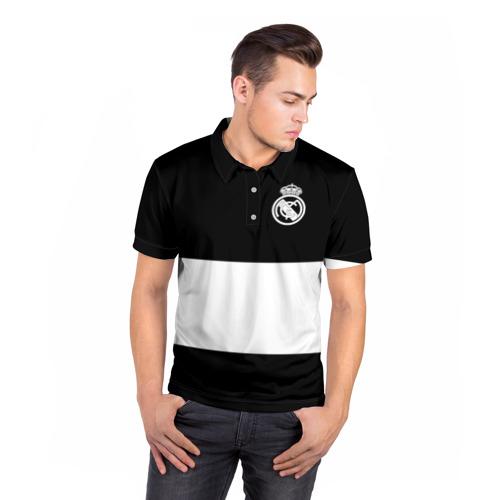 Мужская рубашка поло 3D  Фото 05, Real Madrid Black Collection