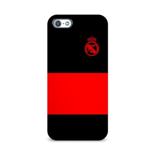 Чехол для Apple iPhone 5/5S 3D  Фото 01, Real Madrid Black Collection