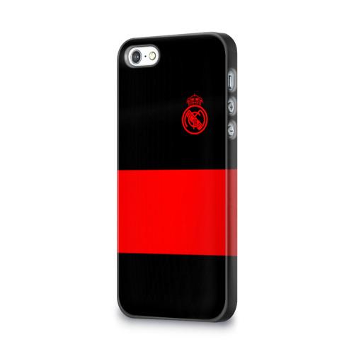 Чехол для Apple iPhone 5/5S 3D  Фото 03, Real Madrid Black Collection