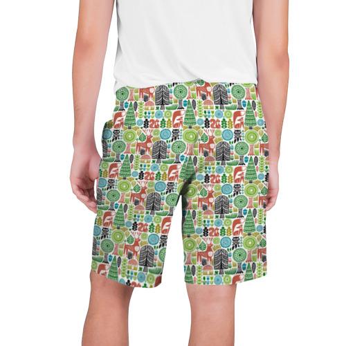 Мужские шорты 3D  Фото 02, Лесной Паттерн