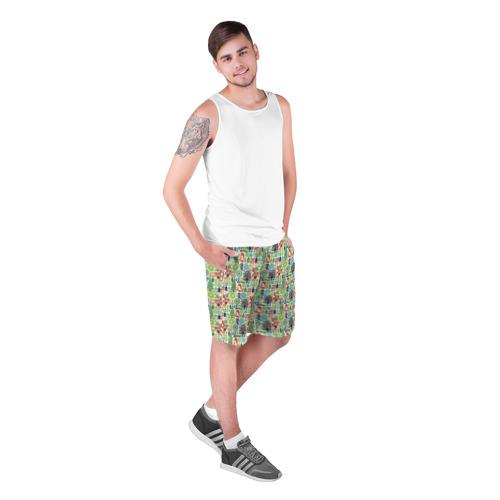 Мужские шорты 3D  Фото 03, Лесной Паттерн