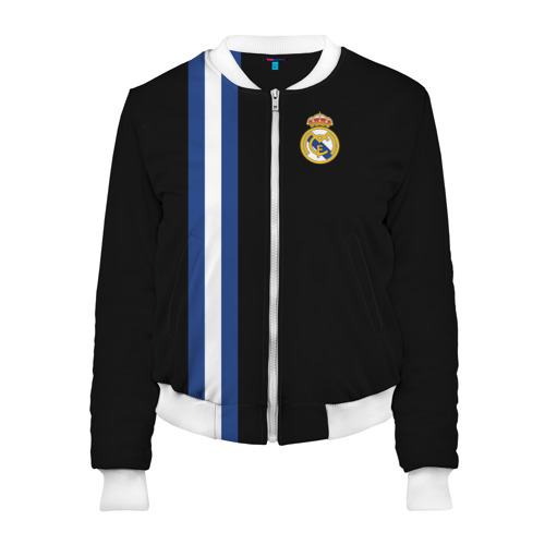 Женский бомбер 3D Real Madrid Line Collection
