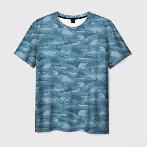 Мужская футболка 3D  Фото 01, Акулы