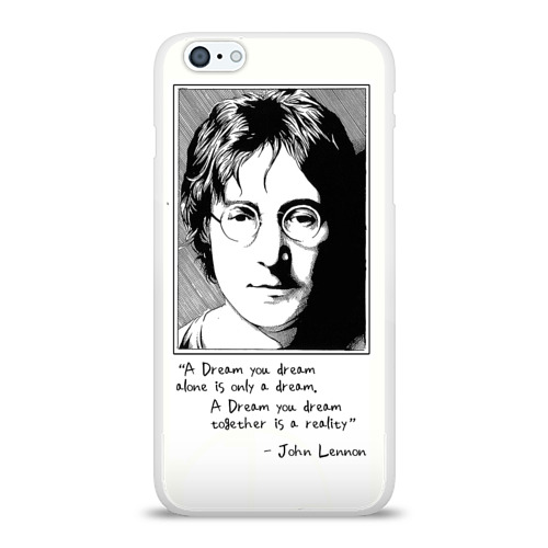 Чехол для Apple iPhone 6Plus/6SPlus силиконовый глянцевый  Фото 01, Джон Леннон 23