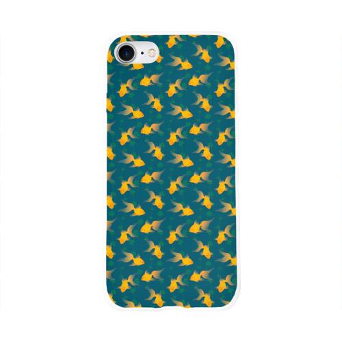 Чехол для Apple iPhone 8 силиконовый глянцевый  Фото 01, Золотая рыбка