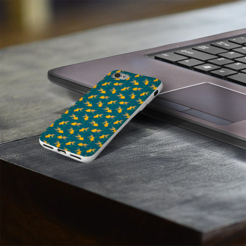 Чехол для Apple iPhone 8 силиконовый глянцевый  Фото 03, Золотая рыбка
