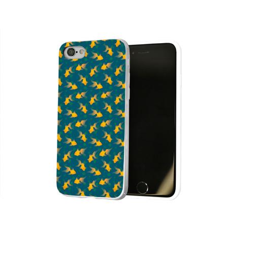 Чехол для Apple iPhone 8 силиконовый глянцевый  Фото 02, Золотая рыбка