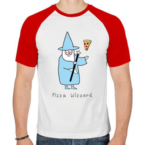 Мужская футболка реглан  Фото 01, Заклинатель пиццы