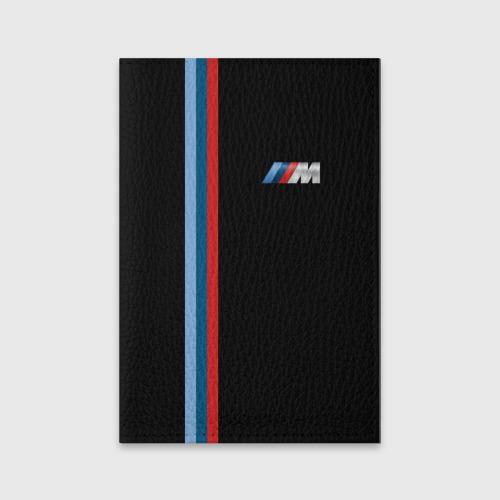 Обложка для паспорта матовая кожа BMW BLACK COLLECTION   БМВ Фото 01
