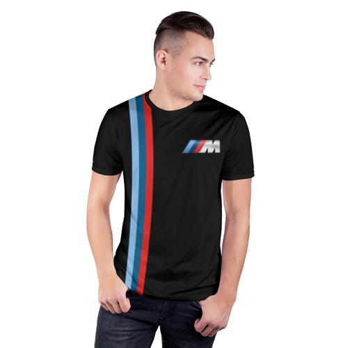 Мужская футболка 3D спортивная BMW BLACK COLLECTION | БМВ Фото 01