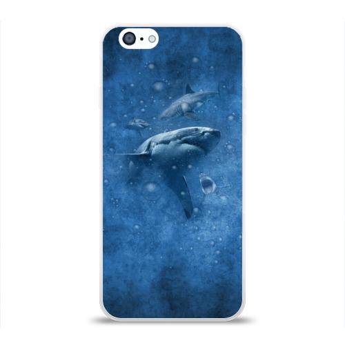 Чехол для Apple iPhone 6 силиконовый глянцевый  Фото 01, Shark