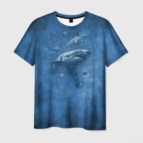 Мужская футболка 3D Shark