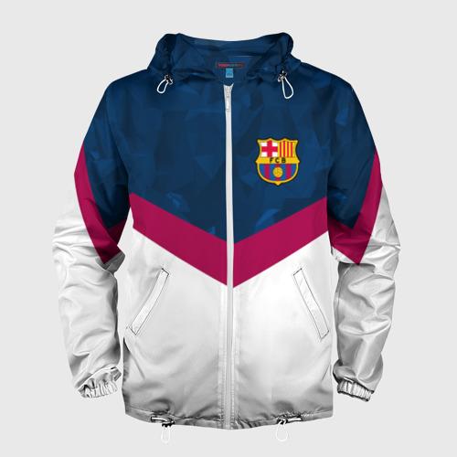 Мужская ветровка 3D FC Barcelona 2018 New Фото 01