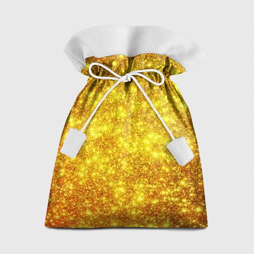 Подарочный 3D мешок Золотой блеск