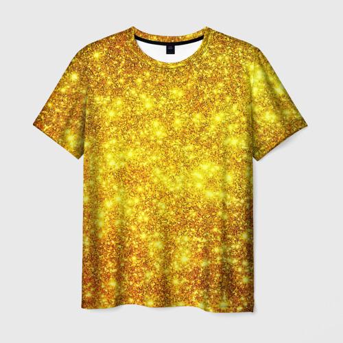 Мужская футболка 3D  Фото 01, Золотой блеск