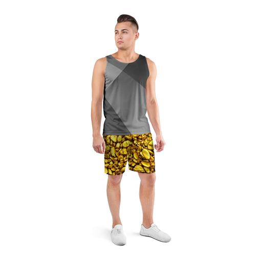 Мужские шорты 3D спортивные  Фото 04, Золотые камешки