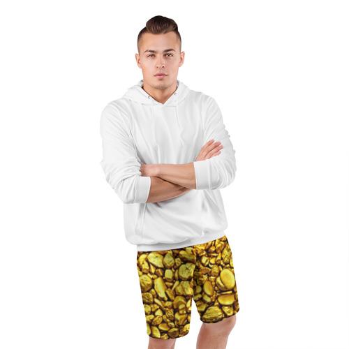 Мужские шорты 3D спортивные  Фото 05, Золотые камешки