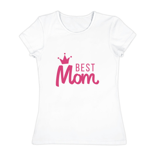 Женская футболка хлопок  Фото 01, Best Mom