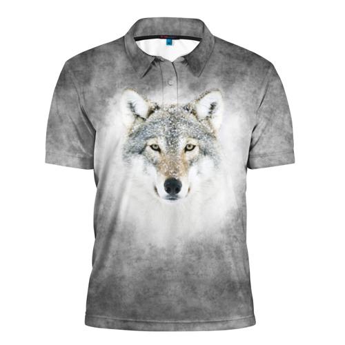 Мужская рубашка поло 3D Wolf