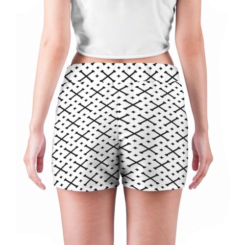 Женские шорты 3D Кости Фото 01