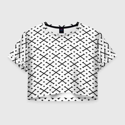 Женская футболка Cropp-top Кости