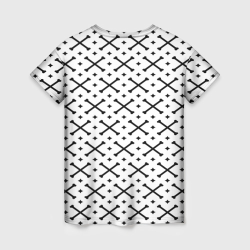 Женская футболка 3D Кости Фото 01