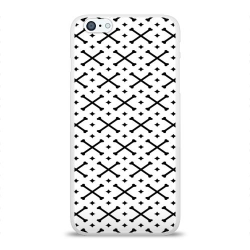 Чехол для Apple iPhone 6Plus/6SPlus силиконовый глянцевый Кости Фото 01