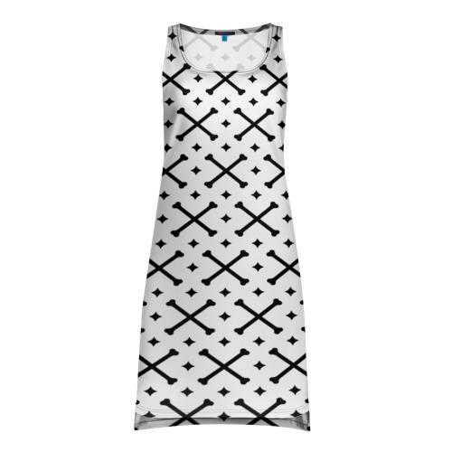 Платье-майка 3D Кости