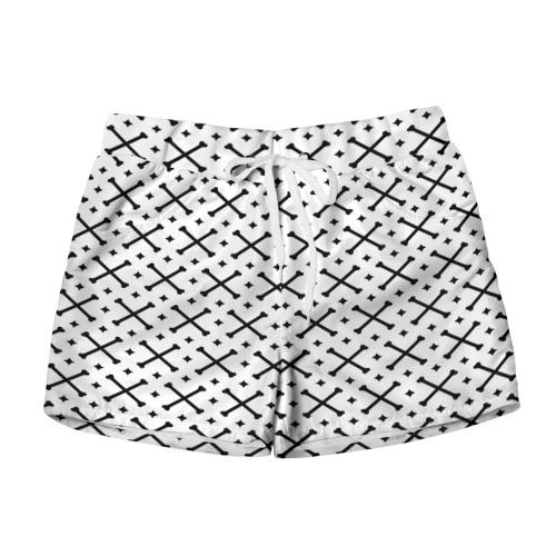 Женские шорты 3D Кости