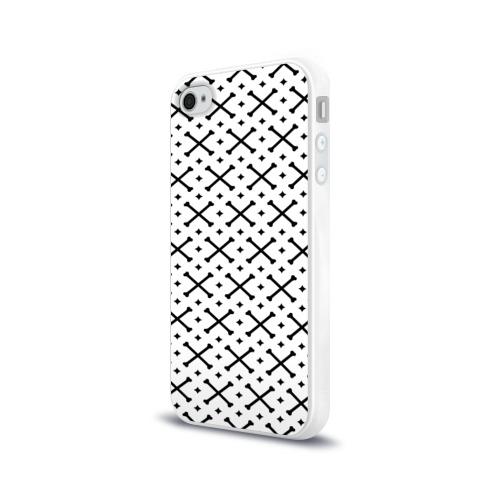 Чехол для Apple iPhone 4/4S силиконовый глянцевый Кости Фото 01