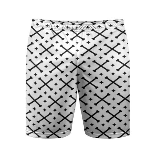 Мужские шорты 3D спортивные Кости